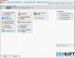 ZERSOFT IYS - İş ve Süreç Yönetim Sistemi